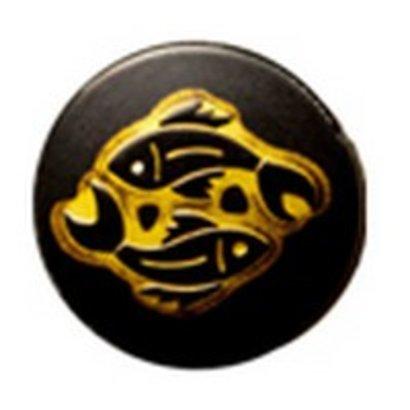 Babouche Baboos Babouche Baboos Drukker zwart/goud Vissen