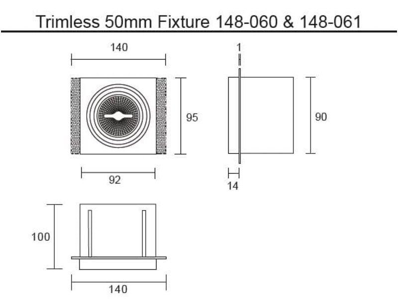 SHD AR50 enkel Trimless