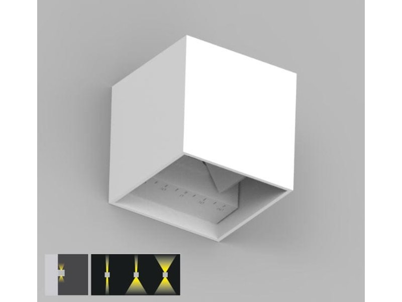SHD Wall Lamp | Cube 10x10x10cm | Black | Up & Down | 6W | Dim.