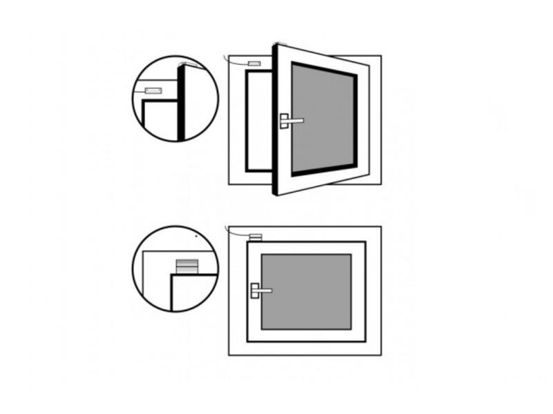 Loxone Raam & deurcontact 24V