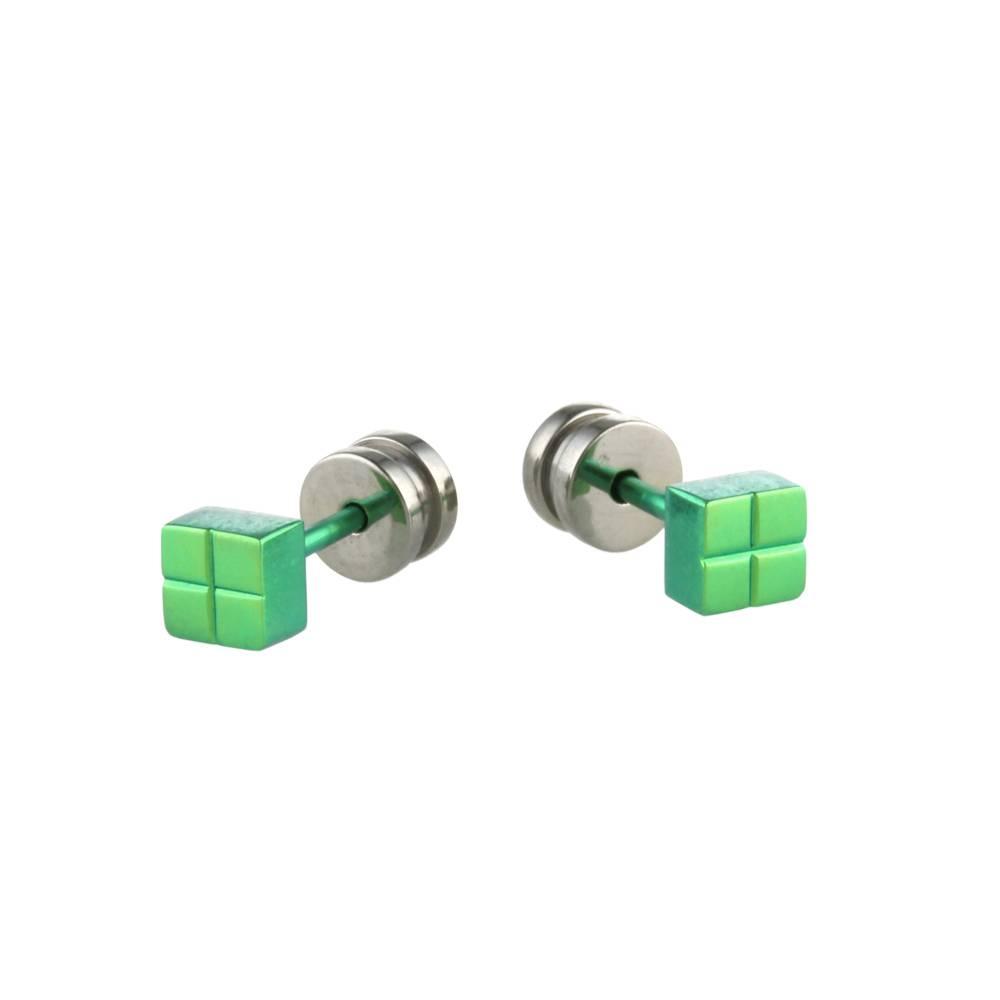 Naisz Titanium Design Stud Green 2017309-90
