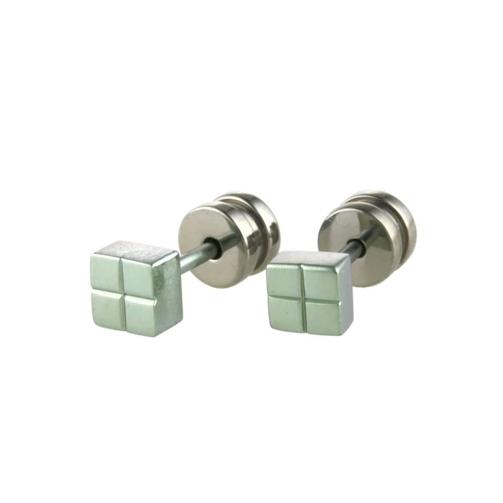 Naisz Titanium Design Stud L Green 2017309-40