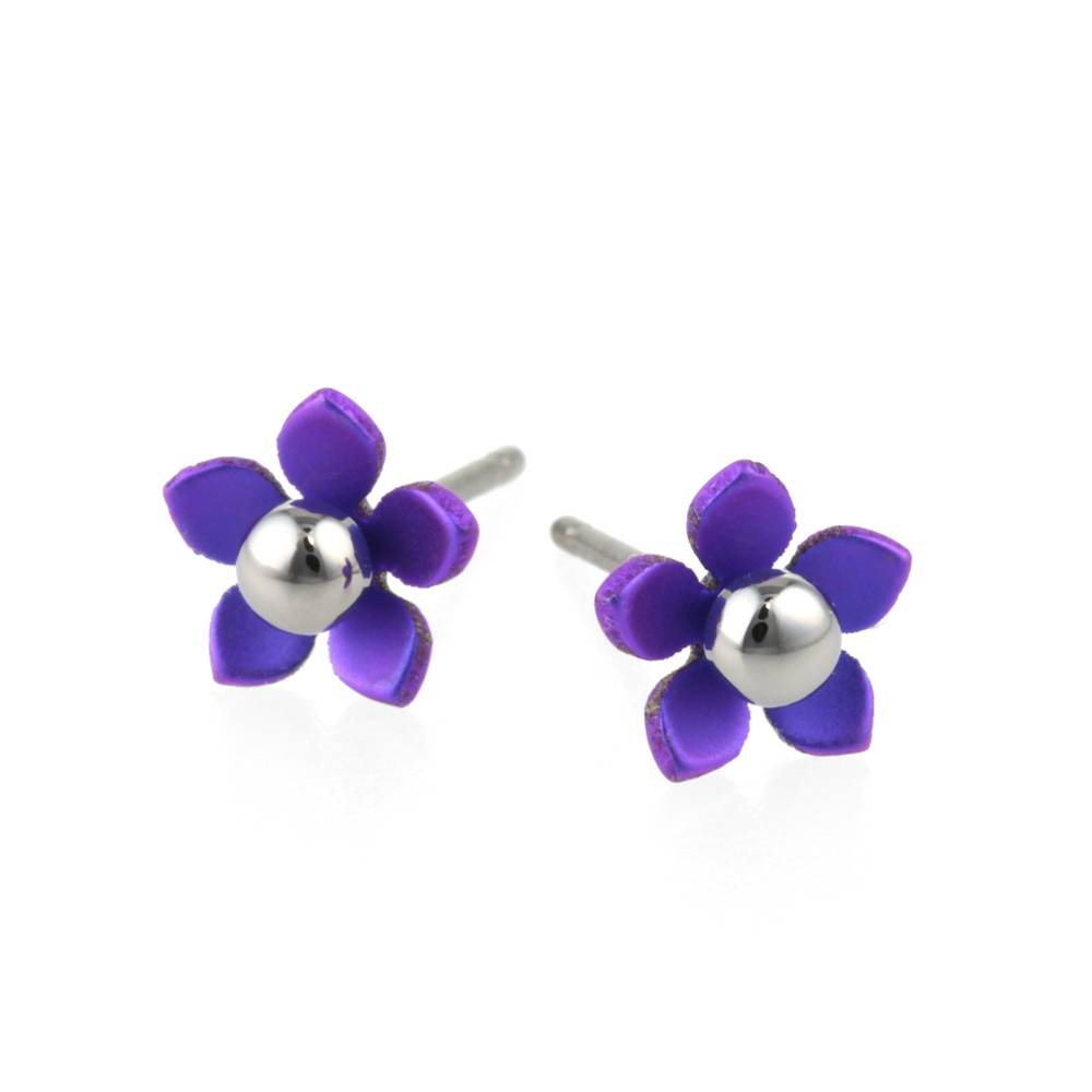 Naisz Titanium Design Flowers 5  Purple 2017356-72