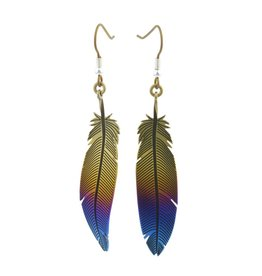 Naisz Titanium Design Feather 2017472-Brown-Blue
