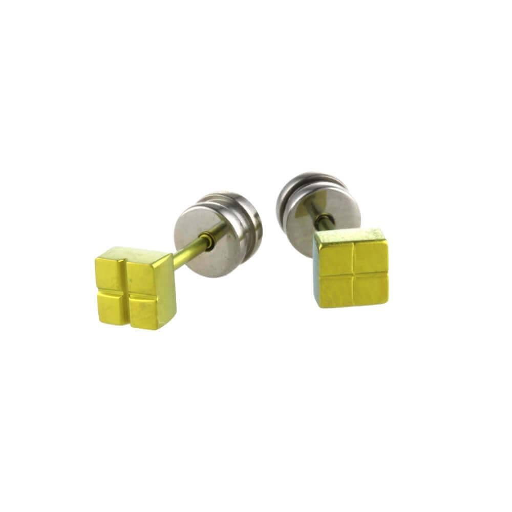 Naisz Titanium Design Stud Green 2017309-90 - Copy