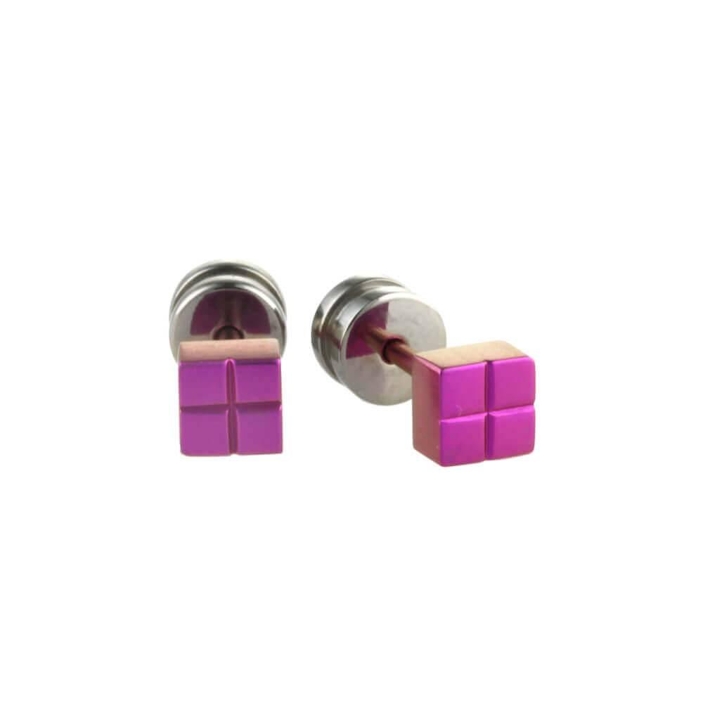 Naisz Titanium Design Stud Pink 2017309-63