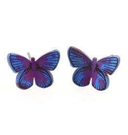 Naisz Titanium Design Butterfly Maroon Blue 2017382