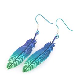 Naisz Titanium Design Feather 2017472-Brown-Blue - Copy