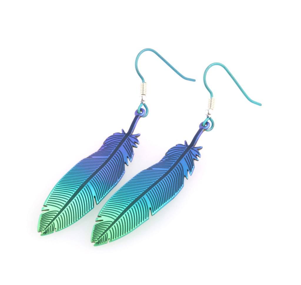 Naisz Titanium Design Feather 2017472-Brown-Blue - Copy