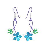 Naisz Titanium Design Double 5 Petal Flower 2017414-Green