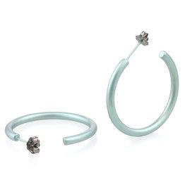 Naisz Titanium Design Earring 25mm x 3mm 2017465-40