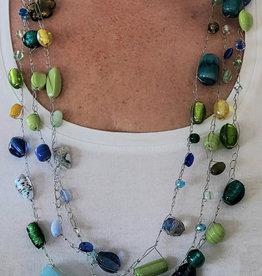 Naisz Titanium Design Halssnoer Groen Blauw