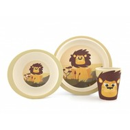 Yuunaa Kids Bamboe kinderserviesset - leeuw