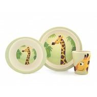 Yuunaa Kids Bamboe kinderserviesset - giraffe