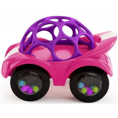 oBall Rattle and Roll baby speel auto's roze/paars