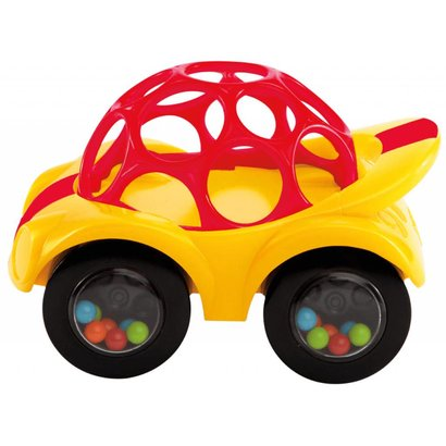 oBall Rattle and Roll baby speel auto's rood en groen