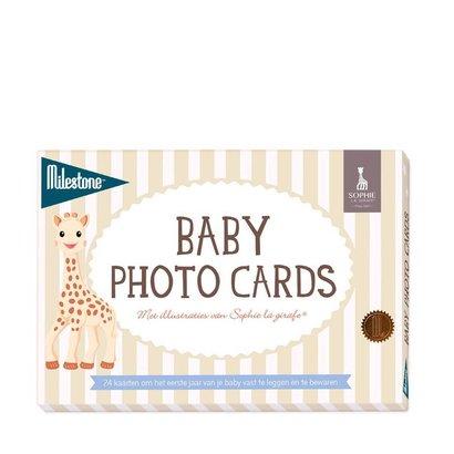 Milestone Sophie de Giraf Baby cards mijlpaal babykaarten