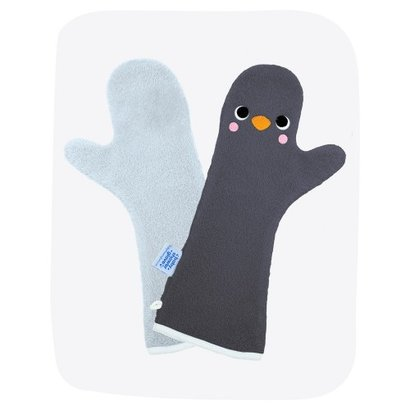 Baby Shower Glove limited edition - lichtblauw met donkerblauw