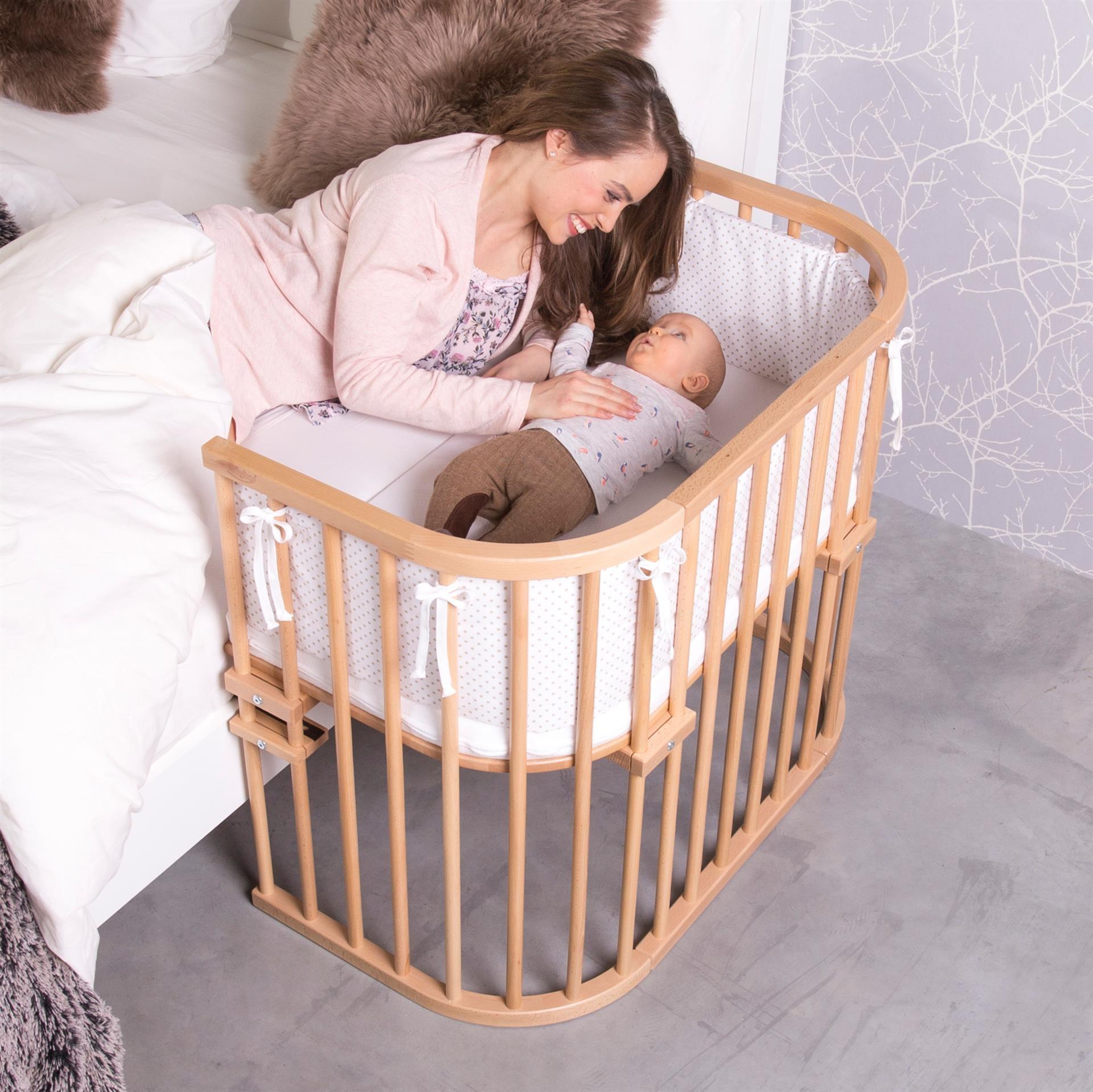 Slaap veilig samen met je baby, met een Babybay Co-slaper Maxi aanschuifbedje