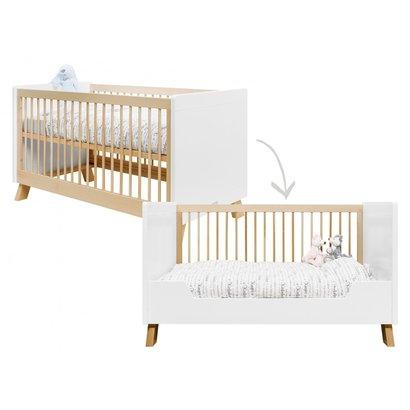 Bopita Babybed/ bedbank Lisa Wit/Naturel 70x140 cm