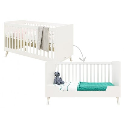 Bopita Babybed/Bedbank Retro Wit 70x140 cm