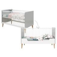 Bopita Babybed/Bedbank Emma Wit/Grijs 70x140 cm