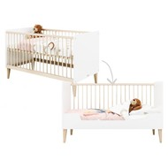 Bopita Babybed/Bedbank Indy Wit/Naturel 70x140 cm