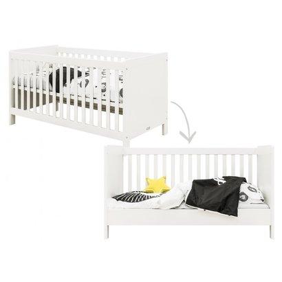 Bopita Babybed/Bedbank Thijn Wit 70x140 cm