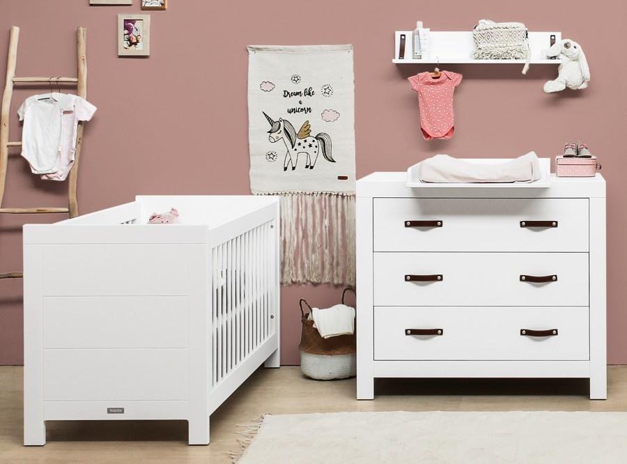 Babykamers 2-delig baby ledikantje en commode