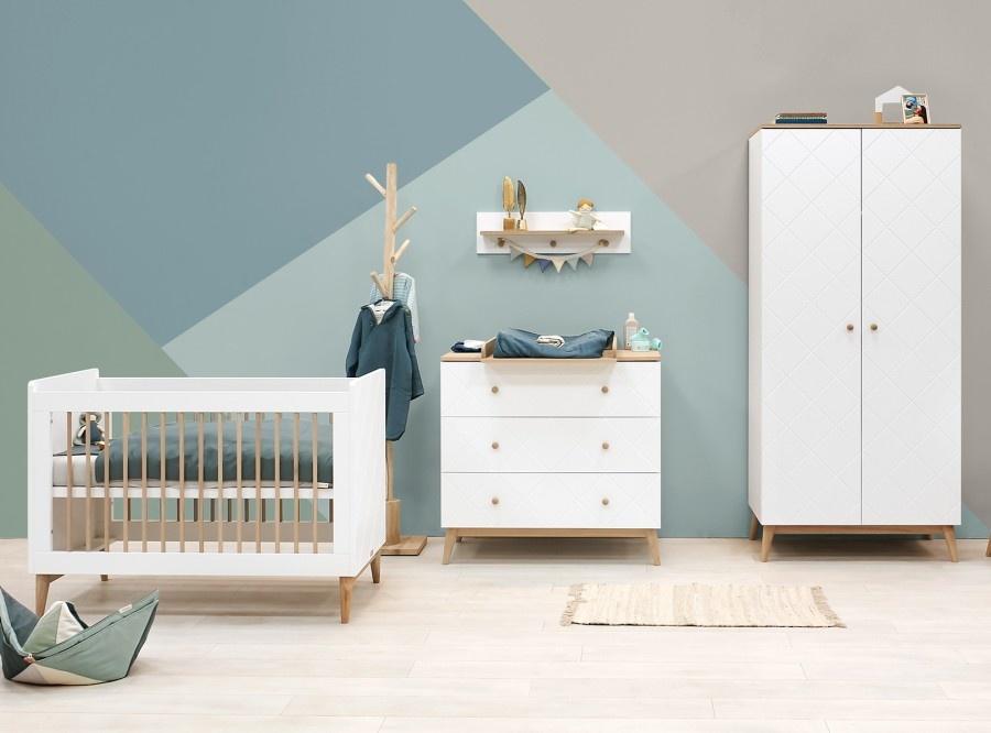 3-delige babykamers - baby ledikantje, commode en kledingkast