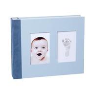 Baby Memory Prints Album met printafdruk blauw
