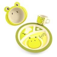 Yuunaa Kids Bamboe Kinderservies - Kikker