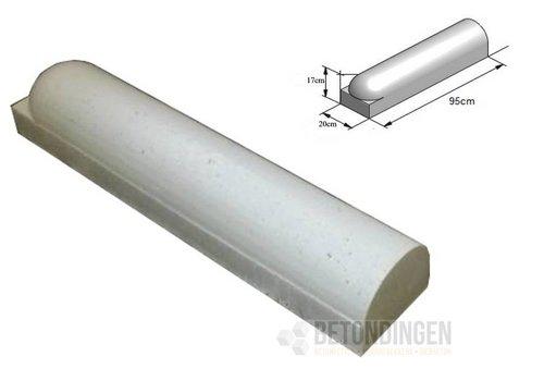 Stootbanden 1 kant rond en 1 kant recht wit