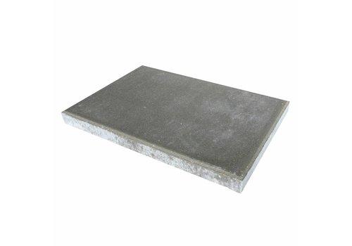 Betontegel grijs 40 x 60 x 5 cm met facet
