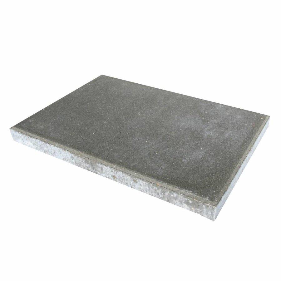 Betontegel grijs 40x60x5 cm met facet