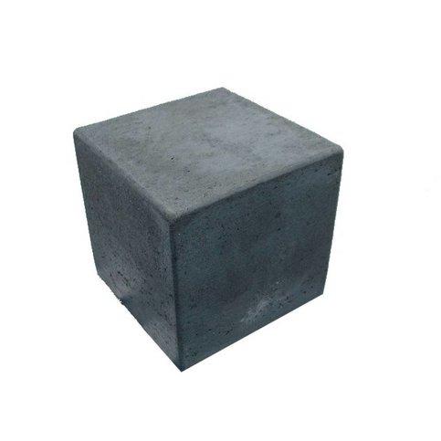Kubus antraciet beton 50 cm