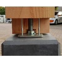 Betonpoer 22,5x22,5 en 50 cm hoog antraciet M16