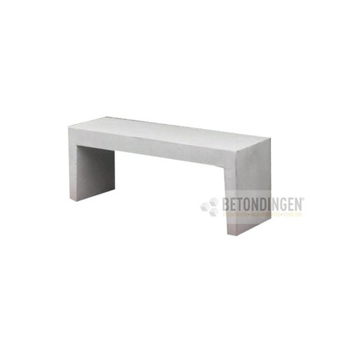 Tuinbank beton 120 cm wit/grijs
