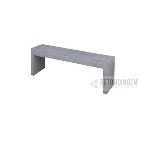 Tuinbank beton 120 cm grijs/antraciet