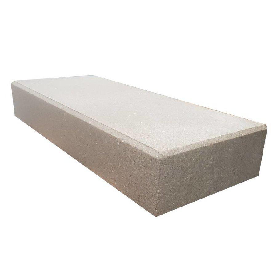 Betonnen traptreden 16x40x100 cm grijs