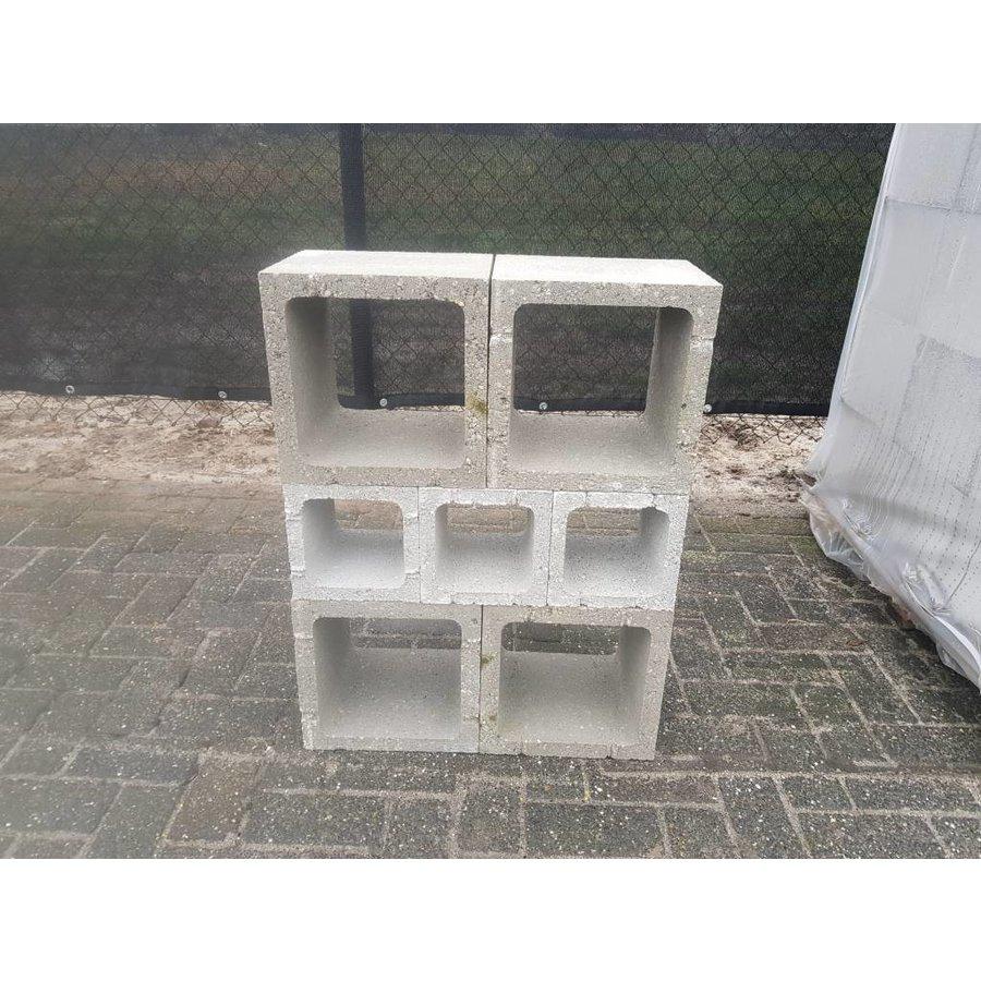 Betonblok (open) 20x20x20cm