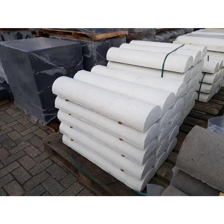 Varkensrug beton 2 kanten recht wit