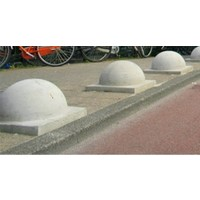 Parkeerbol op voet Groot grijs Ø 50 cm