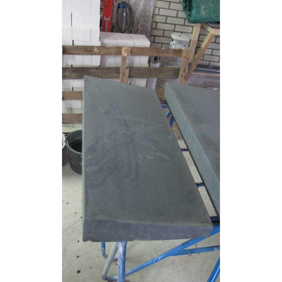 Muurafdekkers 1-zijdig, antraciet 25x100 cm