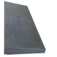Muurafdekkers 1-zijdig, antraciet 25cm x 100cm