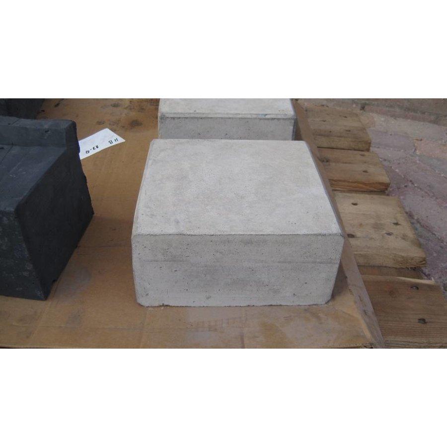 Hoeksteen 21x21X10cm grijs
