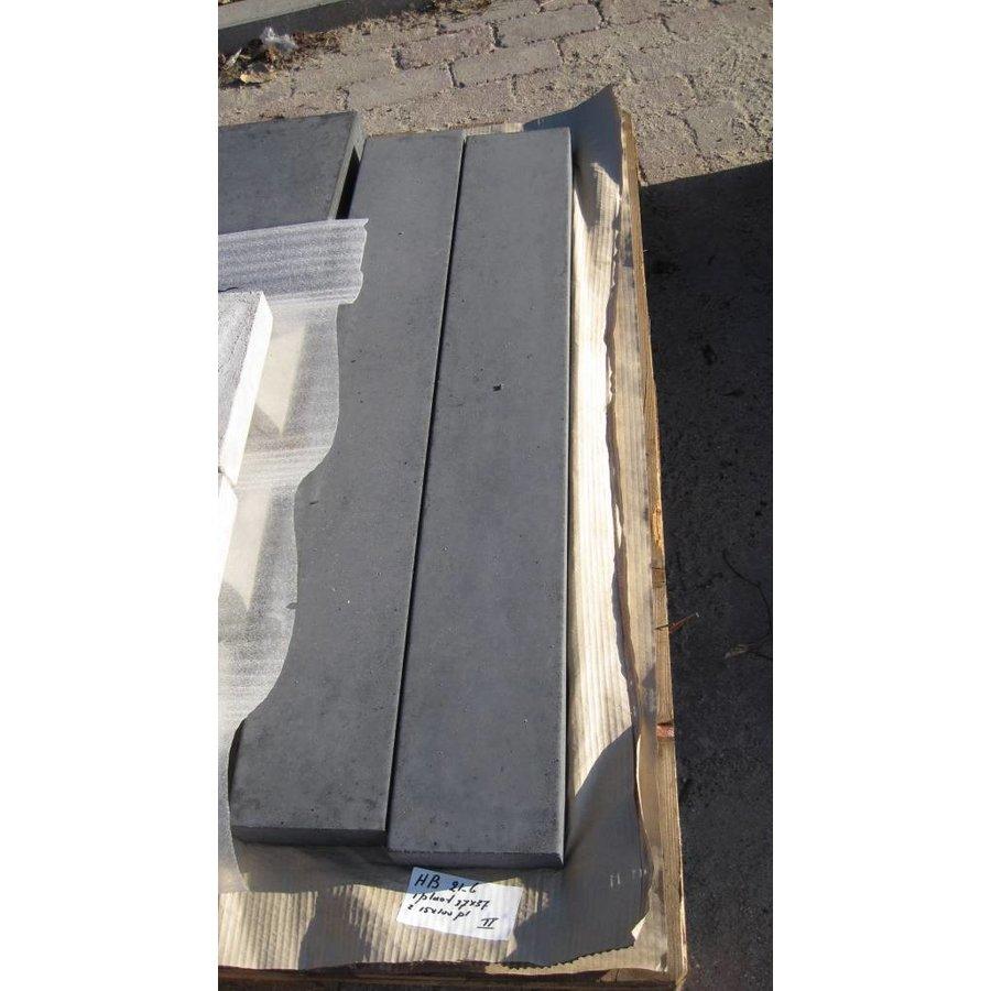 Muurafdekkers vlak, antraciet 15x100 cm