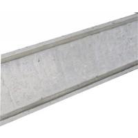 Muurafdekkers vlak, grijs 15 x 100 cm