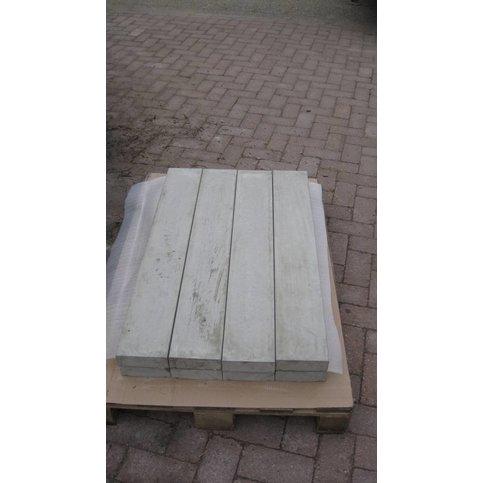 Muurafdekkers beton vlak grijs 15x100