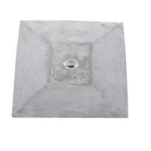 Paalmutsen met een plat stuk + gat 55x55 cm